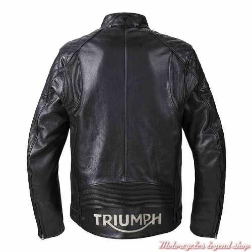 Blouson cuir Braddan Sport Triumph homme, noir, dos, MLHS21101