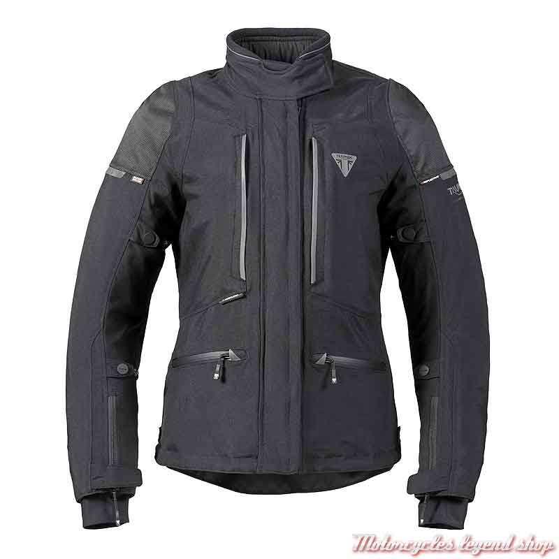 Blouson textile Hythe Triumph homme noir, MLTS21310