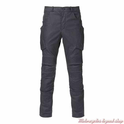 Pantalon cargo Redgate Triumph homme, enduit, waterproof, noir délavé, MDJS21108