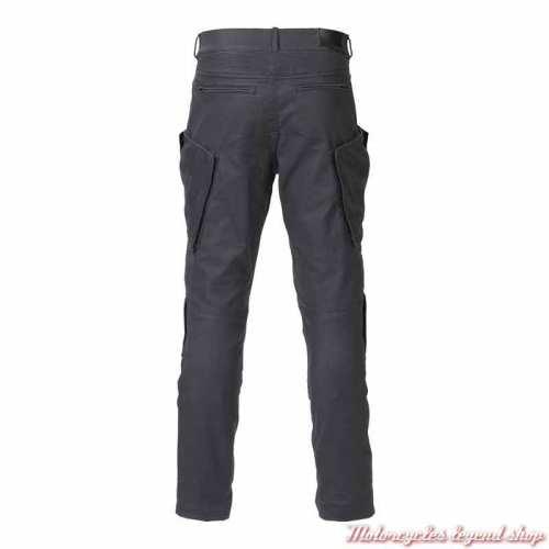 Pantalon cargo Redgate Triumph homme, enduit, waterproof, noir délavé, dos, MDJS21108