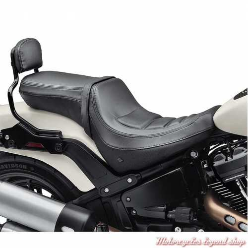 Selle Sundowner Fat Boy Harley-Davidson, biplace, noir, visuel, 52000349