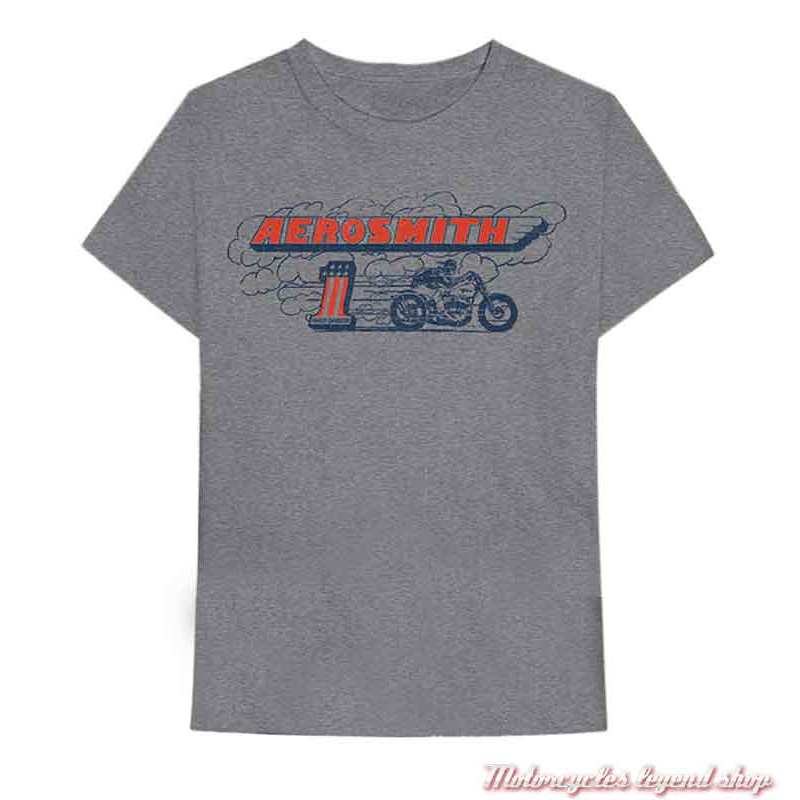 Tee-shirt Aerosmith Burnout Harley-Davidson homme, gis, manches courtes, coton, 40290578