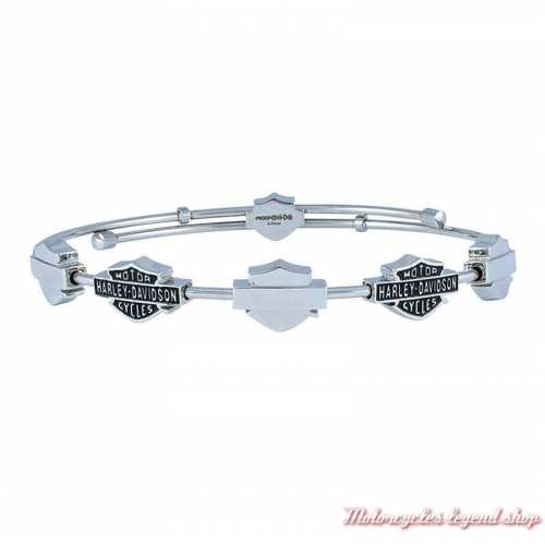 Bracelet acier Multiple Bar & Shield Harley-Davidson femme, HSB0126