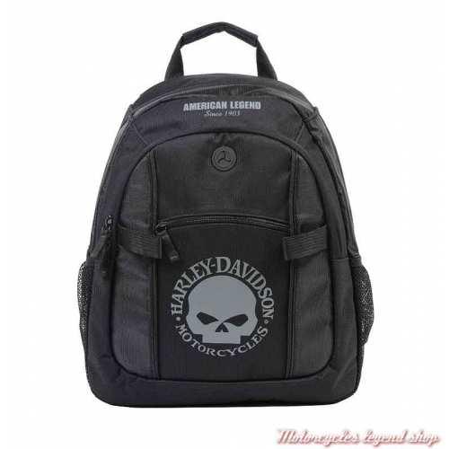 Petit sac à dos Skull Harley-Davidson, black/grey, nylon, BP1929S-SKULLGRYBLK