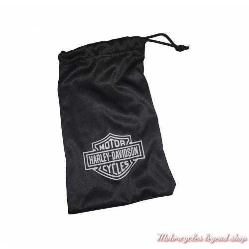 Lunettes Baffle Harley-Davidson, noir mat, verre incolore, pochette, HABFL03