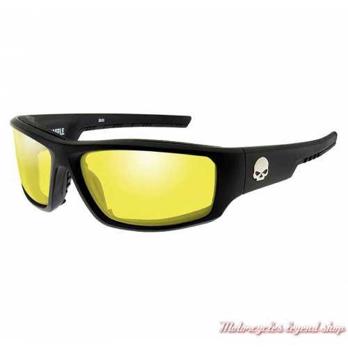 Lunettes Baffle Harley-Davidson, noir mat, verre jaune, HABFL11