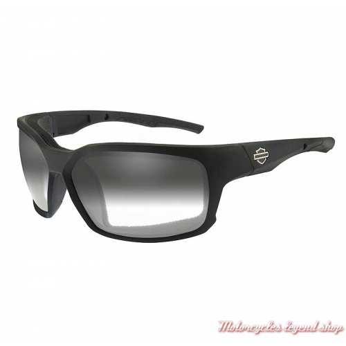 Lunettes jour/nuit Cogs Harley-Davidson ,noir mat, fumé gris, cavité intérieur amovible, HDCGS05