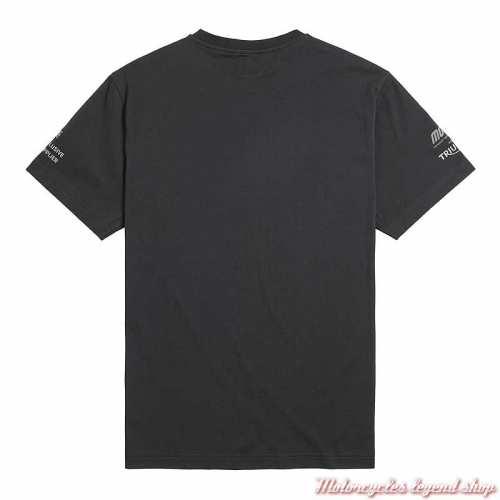 Tee-shirt Moto2 Triumph homme, noir, manches courtes, coton, dos, MTSS21502
