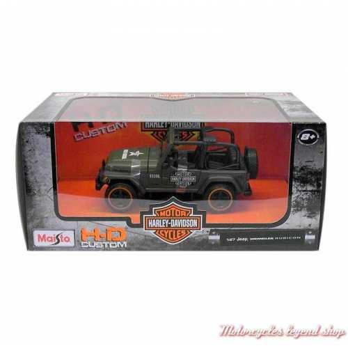 Miniature Jeep Wrangler Rubicon Harley-Davidson, kaki 1/27, boite, 32160-32190