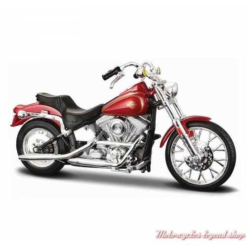 Miniature FXST Softail 1984 rouge Harley-Davidson, échelle 1/18