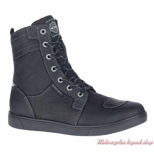 Chaussures Steinman hautes Harley-Davidson homme CE waterproof, noir, à lacets, zip, D97176