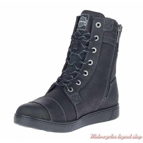 Chaussures Steinman hautes Harley-Davidson homme CE waterproof, noir, à lacets, zip, D97176-2