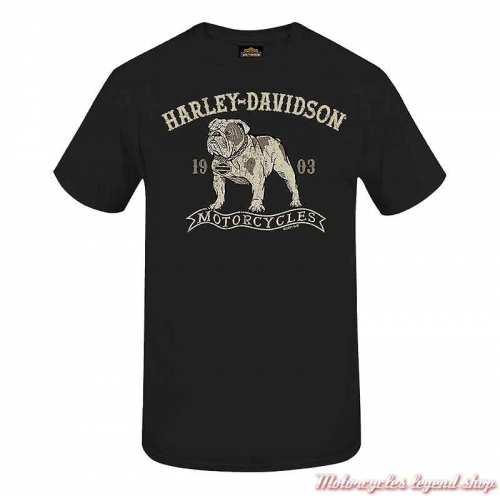 Tee-shirt Fido II Harley-Davidson homme, noir, manches courtes, Cornouaille Moto Quimper Bretagne, R004015