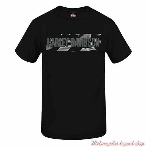 Tee-shirt Flannigan II Harley-Davidson homme, noir, manches courtes, Cornouaille Moto Quimper Bretagne, R004016