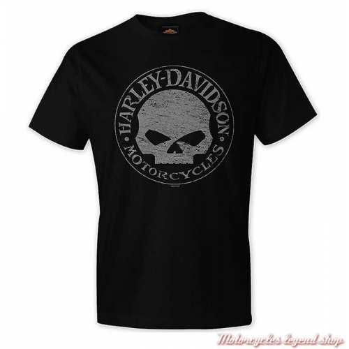 Tee-shirt G Stress Harley-Davidson homme, noir, manches courtes, Cornouaille Moto Quimper Bretagne R004205