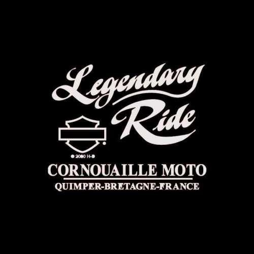 Tee-shirt Serene Harley-Davidson femme, noir, coton, glitter, manches courtes, backprint Cornouaille Moto Quimper Bretagne R0041