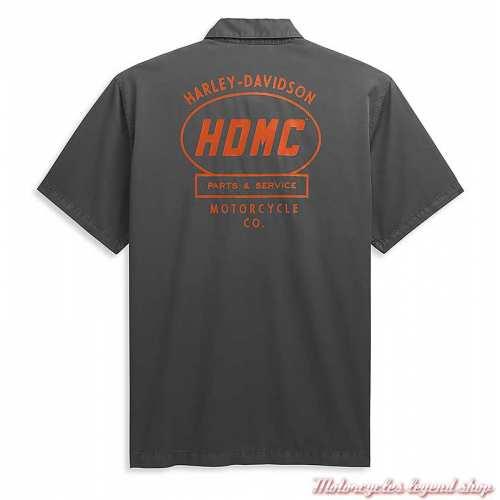 Chemisette garage Harley-Davidson homme, gris, coton, dos, 96449-21VM
