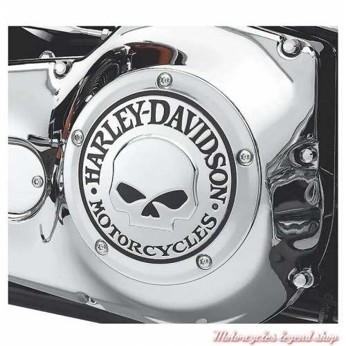 Trappe d'embrayage Skull chrome Harley-Davidson, visuel, 25441-04A