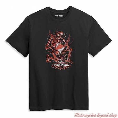 Tee-shirt Skull forgeron Harley-Davidson homme, noir, manches courtes, coton, dos, 96440-21VM