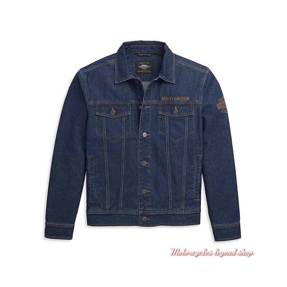 Veste en jean Harley-Davidson homme , bleu, coton, 97452-21VM