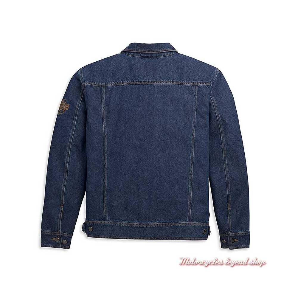 Veste en jean Harley-Davidson homme , bleu, coton, dos, 97452-21VM