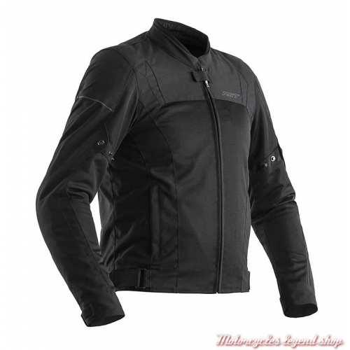 Blouson été textile Aero RST homme, noir, léger, CE, 102300BLK