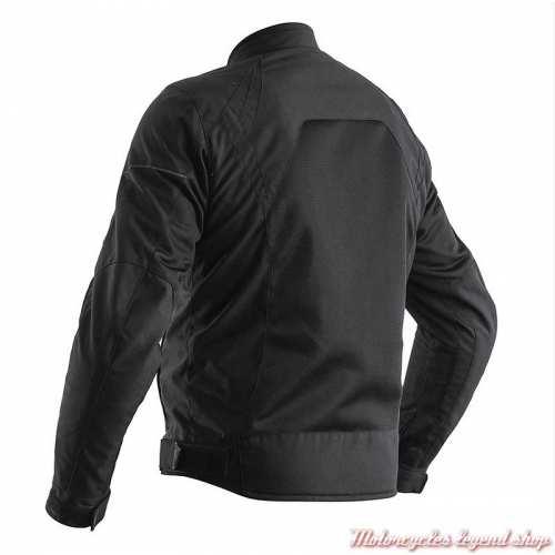 Blouson été textile Aero RST homme, noir, léger, CE, dos, 102300BLK