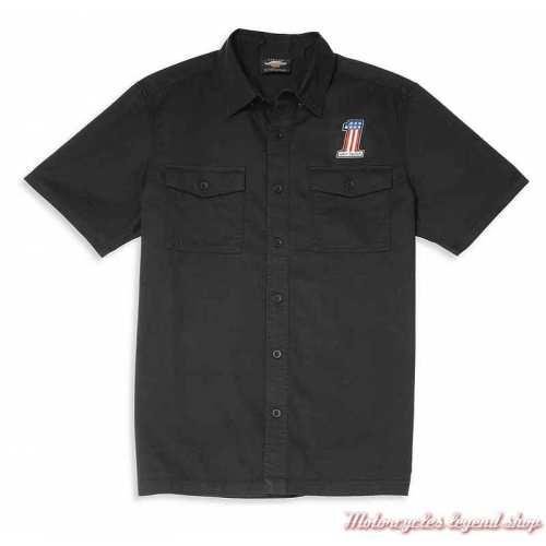 Chemisette Mechanics Harley-Davidson homme, noir, coton, 96073-22VM