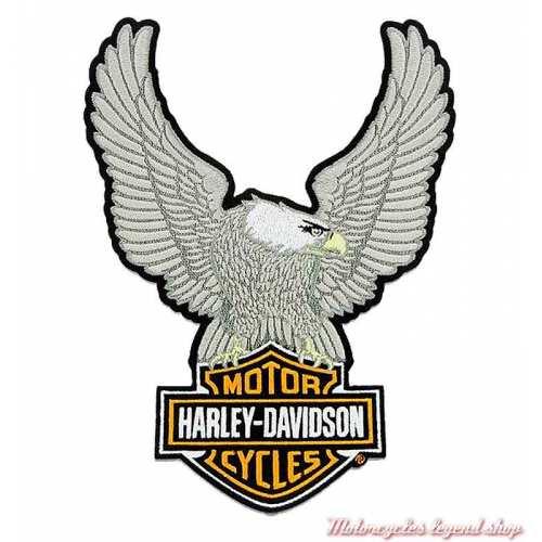 Patch Aigle Silver Medium Harley-Davidson, 9 cm, brodé, à coudre, 8011598