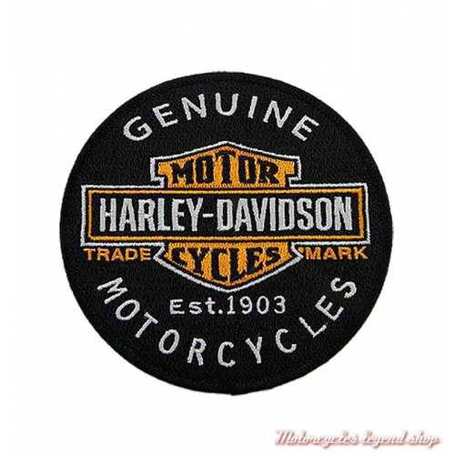 Patch rond Trademark Harley-Davidson, 10 cm, à coudre, 8011635