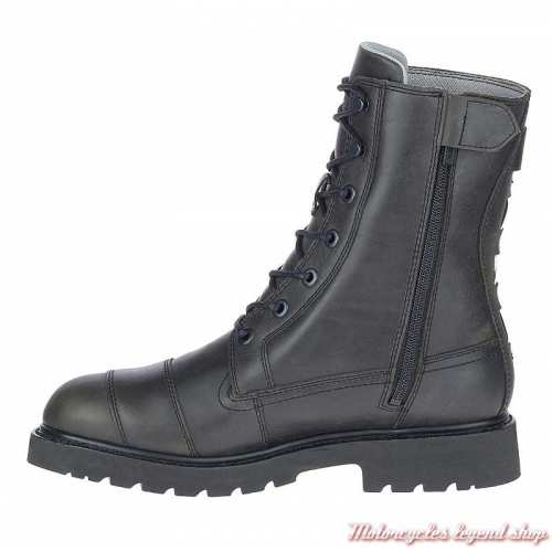 Chaussure Brosner à lacets Harley-Davidson homme, rangers cuir noir, waterproof, homologuées, D97170-2