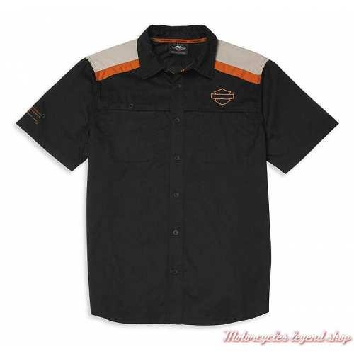 Chemisette Performance Harley-Davidson homme, noir, coton, polyester, 96042-22VMe