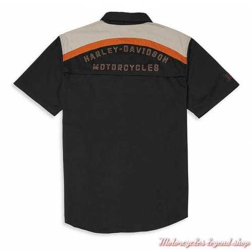 Chemisette Performance Harley-Davidson homme, noir, coton, polyester, dos, 96042-22VMe
