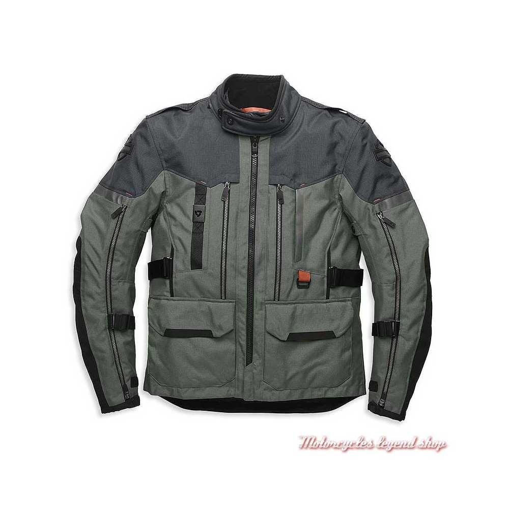 Blouson textile Grit Aventure homme Harley-Davidson Pan America, gris, noir, Rev'it, technique, 98179-21VM