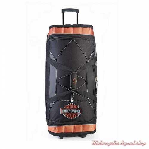 Sac de voyage à roulettes XL Harley-Davidson 81 cm, noir, orange, gris, robuste, dessus, 99632