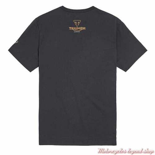 Tee-shirt Bonneville homme Triumph, noir, manches courtes, coton, dos, MTSS21600