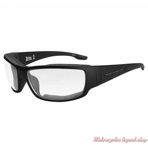 Lunettes Drive 2 verres incolore Harley-Davidson, noir mat, HADRI03