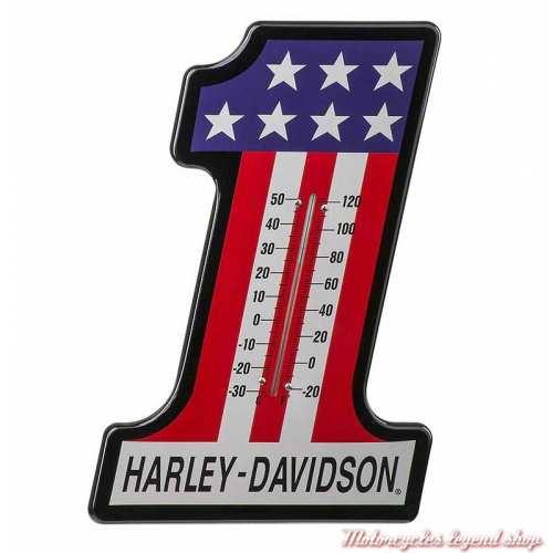 Thermomètre 1 RWB Racing Harley-Davidson, métal, 37 x 25.5 cm, HDL-10024