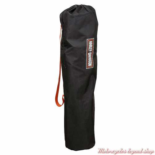 Chaise de camping Harley-Davidson, pliante, noir, orange, sac, HDX-98520