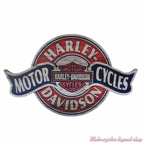 Panneau bois Harley-Davidson Motorcycles, superposé, vieilli, HDL-15324