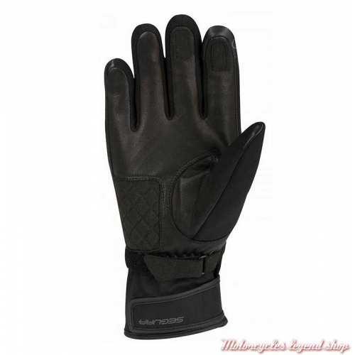 Gants hiver Nedd homme Segura, textile noir, SGH490