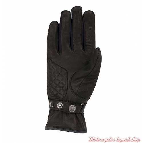 Gants Rita Chrystal femme Segura, cuir noir, mi saison, waterproof, paume, SGM560