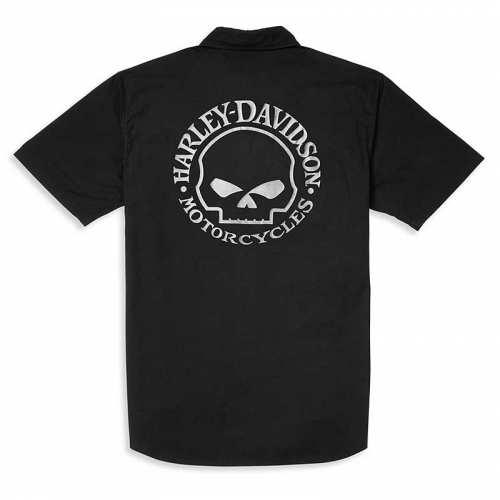 Chemisette Willie G Skull Harley-Davidson homme, noir, coton, dos, 96060-22VM