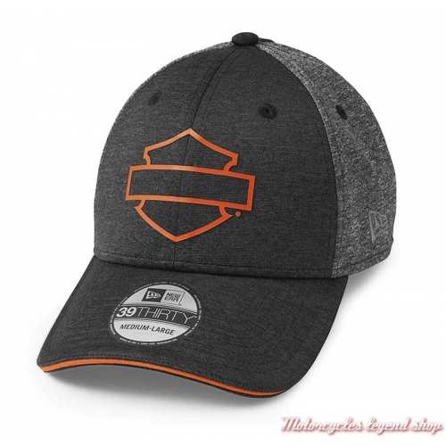 Casquette Colorblock 39THIRTY Harley-Davidson homme, noir, gris, polyester tricot, 97608-22VM