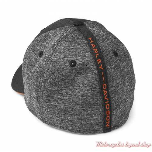 Casquette Colorblock 39THIRTY Harley-Davidson homme, noir, gris, polyester tricot, dos, 97608-22VM