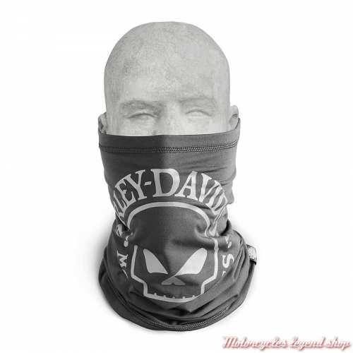 Tube Willie G Skull Harley-Davidson, noir, polyester, polaire, porté, 97125-22VX
