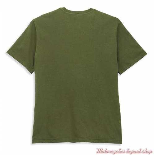 T-shirt Winged Eagle Graphic Harley-Davidson homme, vert, orange, manches courtes, coton, dos, 96051-22VM