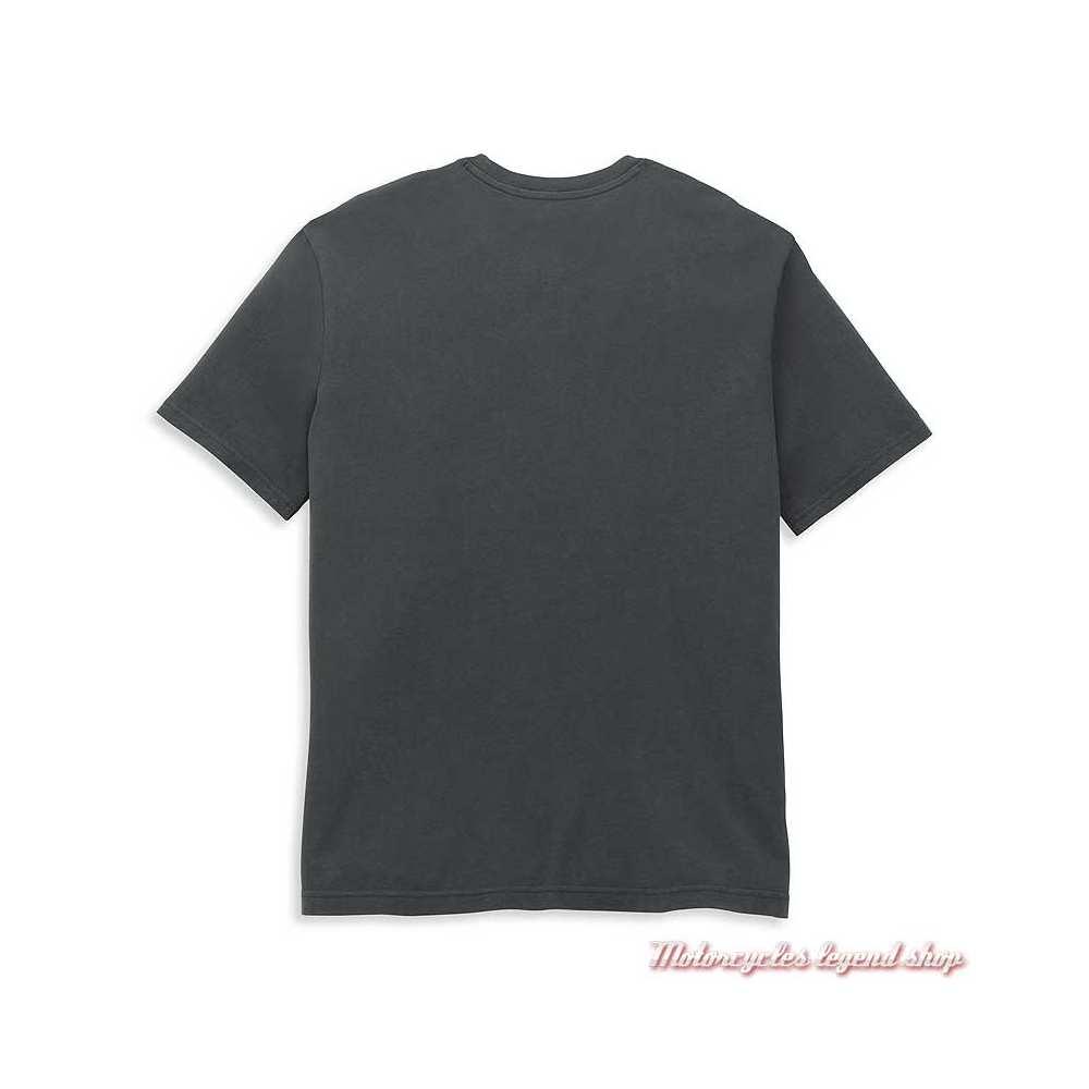 T-shirt Bar & Shield Graphic Harley-Davidson homme, gris, manches courtes, coton, dos, 96050-22VM