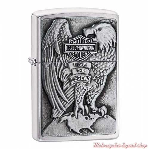 Zippo essence Harley-Davidson, aigle et Bar & Shield en relief, 60001486