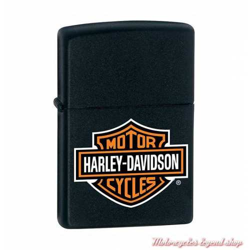 Zippo essence Harley-Davidson Bar & Shield, métal noir, 60001253